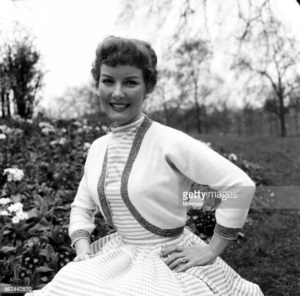 Petula Clark modelling a white bolero 1st June 1955