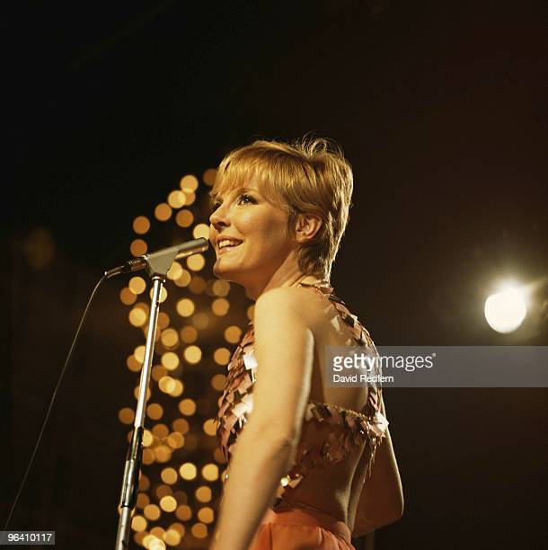 Petula Clark performs on a TV show in London c1968 Image is part of David Redfern Premium Collection