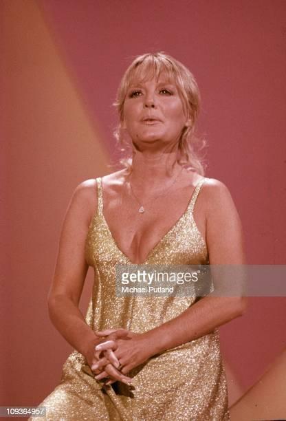 Petula Clark performs on a TV show London circa 1970