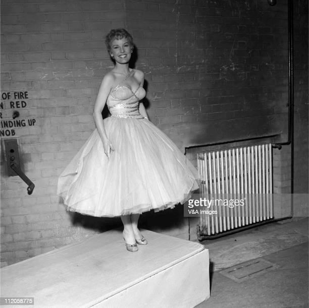 Petula Clark posed backstage 1960