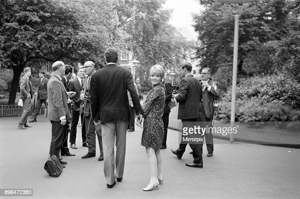 Petula Clark with her husband Claude Wolff, 6th June 1966.