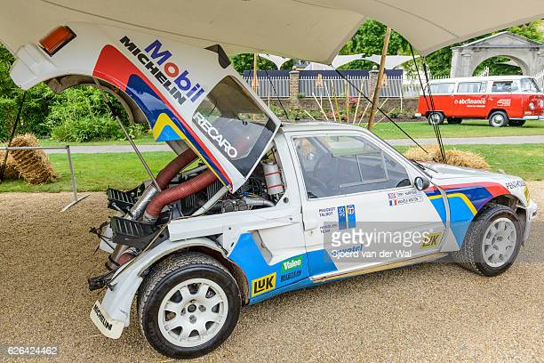 """peugeot 205 t16 group b rally car - """"sjoerd van der wal"""" stock pictures, royalty-free photos & images"""