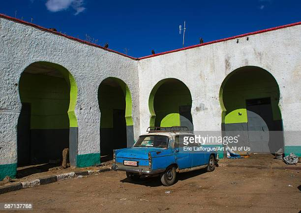 Peugeot 404 taxi in the market of the old town harari region harar Ethiopia on March 4 2016 in Harar Ethiopia