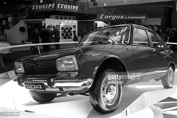 Peugeot 504 in motor show in Paris France in 1968