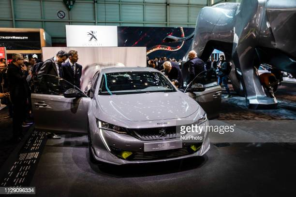 Peugeot 508 during the Geneva International Motor Show Gims in Geneva Switzerland from 7 to 17 of March