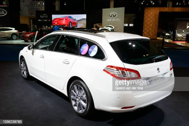 Peugeot 508 SW GTline compact 5door stationwagon car on display at Brussels Expo on January 13 2017 in Brussels Belgium The Peugeot 508 of the first...