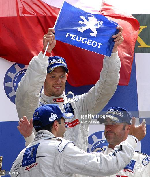 Peugeot 908 wins at the Le Mans 24 Hours race in Le Mans, France on June 14th, 2009 - Alexander Wurz, Davis Brabham and Marc Gene.