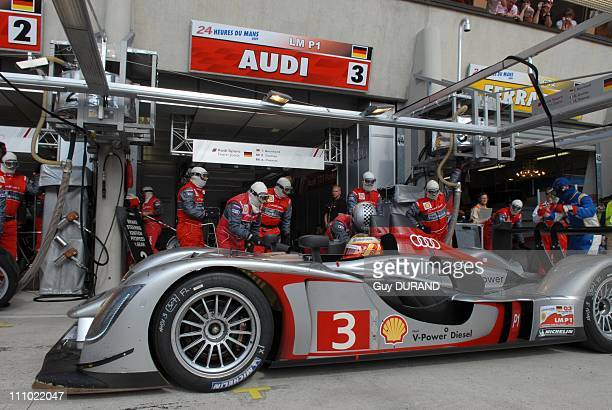 Peugeot 908 wins at the Le Mans 24 Hours race in Le Mans France on June 14th 2009 Audi