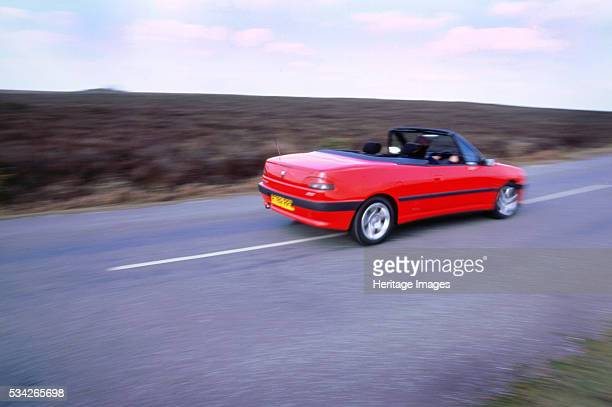 Peugeot Cabriolet 306 passing at speed 2000