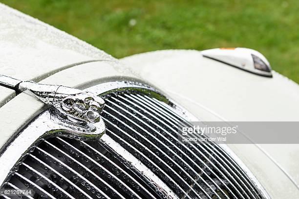 """peugeot eclipse 1934 classic convertible car detail - """"sjoerd van der wal"""" photos et images de collection"""