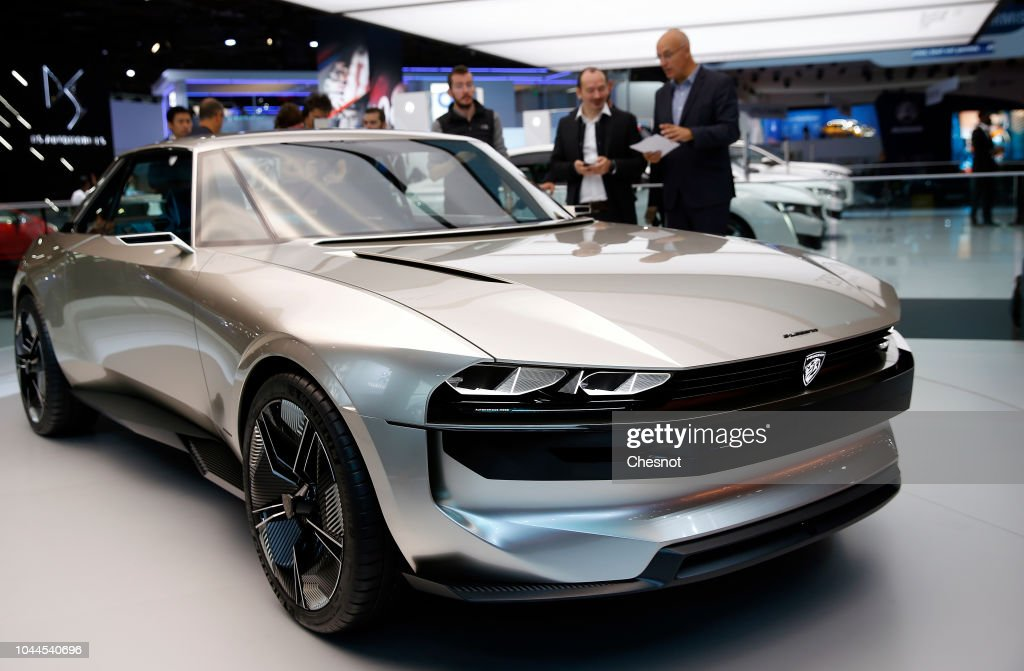a peugeot e legend concept car is on display during the first press news photo getty images. Black Bedroom Furniture Sets. Home Design Ideas