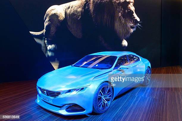 peugeot exalt saloon concept car - car show stock pictures, royalty-free photos & images