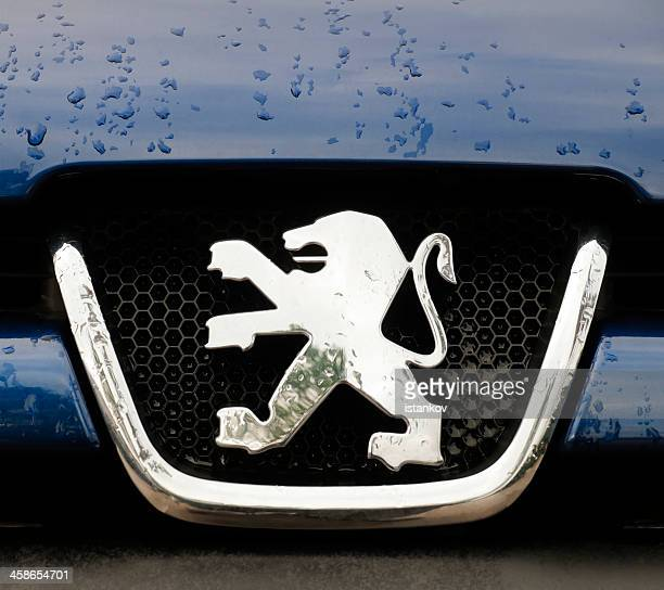 Peugeot Logo on car grille