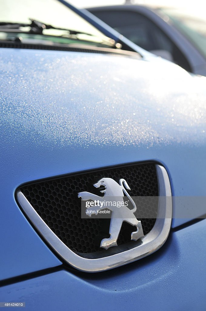 Peugeot logo radiator badge is pictured on October 4, 2015 in Southend on Sea, England.
