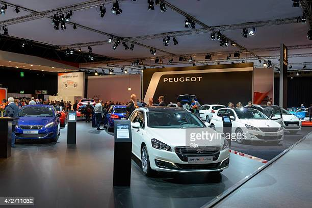 Peugeot Motor Show stand with the 308 in the foreground