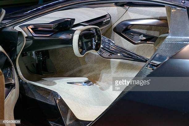 peugeot onyx concept interior - futuristic car stock pictures, royalty-free photos & images