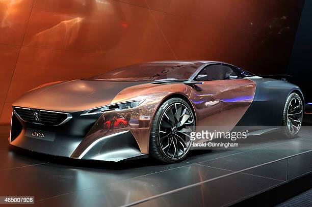 Peugeot Onyx is seen during the 85th International Motor Show on March 3 2015 in Geneva Switzerland The 85th International Motor Show held from the...