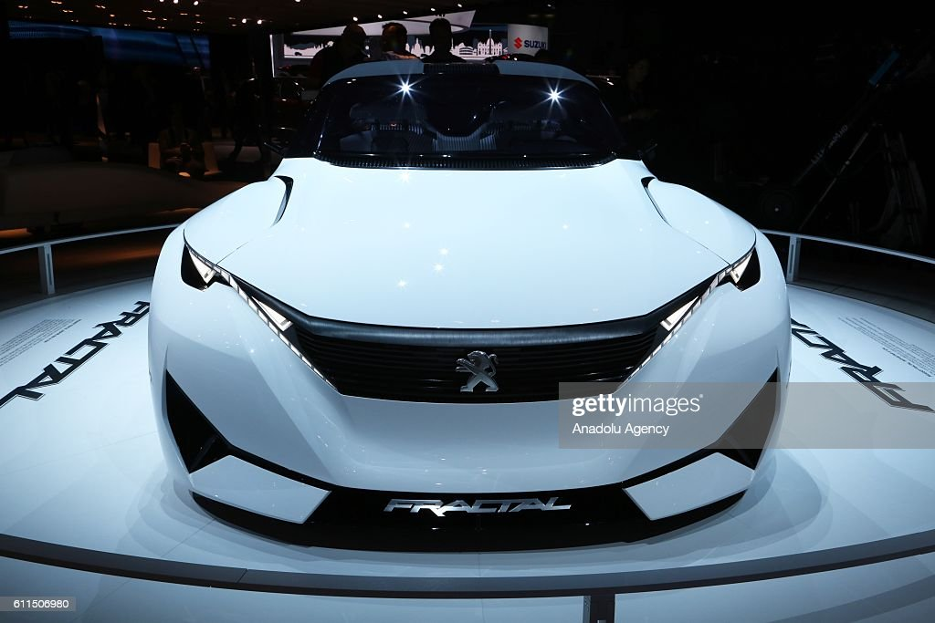 Peugeot Sport Concept Model Car Is Seen During The Press Preview Of The  Paris Motor Show