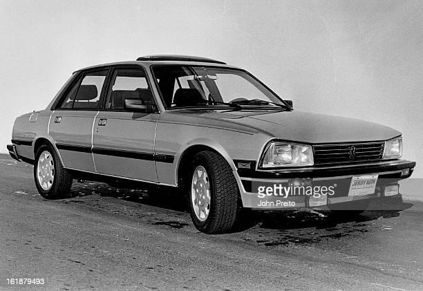 DEC 5 1986 Peugeot STX 281 505