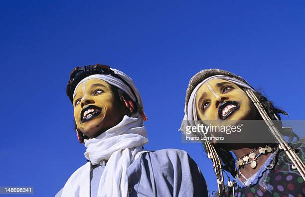 Peul boys getting into trance for Geerewol Festival.