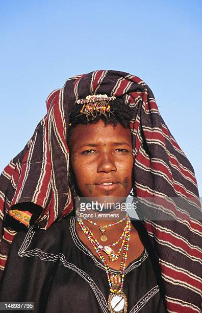 Peul girl dressed for Geerewol Festival.