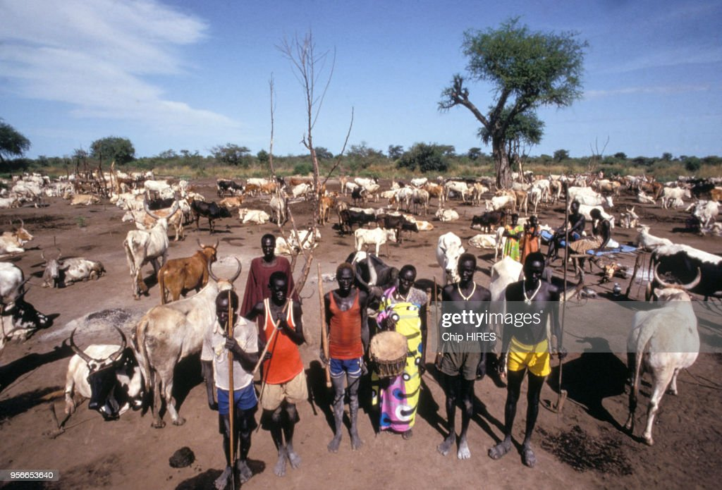 Dinka au Sud Soudan en 1983 : News Photo