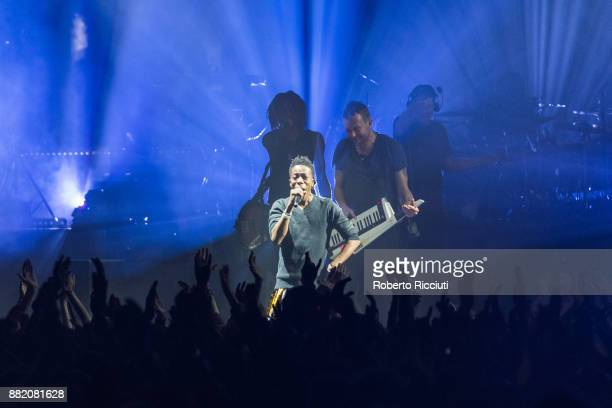 Peven Everett and Damon Albarn of Gorillaz perform at The SSE Hydro on November 29 2017 in Glasgow Scotland