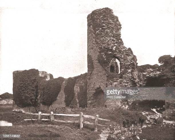 Pevensey Castle Sussex 1894 Medieval castle and former Roman Saxon Shore fort A castle was first built at Pevensey early in the 4th century by the...