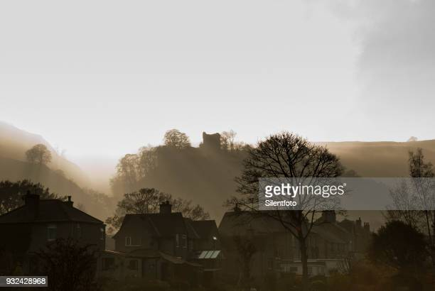 Peveril Castle Above Castleton in the Derbyshire Peak District