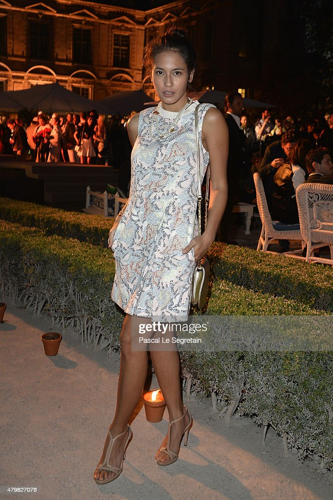 Pevita Pearce attends Tory Burch Paris Flagship Opening after party at on July 7, 2015 in Paris, France.