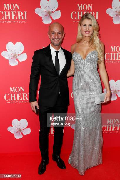 Peyman Amin and Felicia during the Mon Cheri Barbara Tag at Alte Bayerische Staatsbank on December 4 2018 in Munich Germany