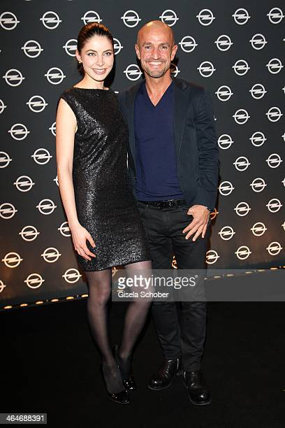 MUNICH GERMANY JANUARY Peyman Amin and Felicitas Riedeler attend the presentation and vernissage of the calender 'THE ADAM BY BRYAN ADAMS' for Opel...