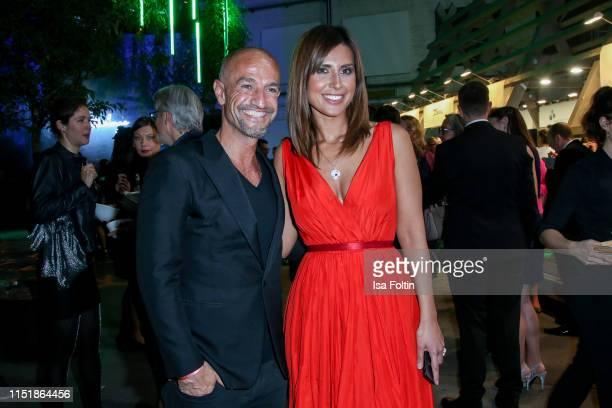Peyman Amin and German presenter Jana Azizi during the Green Award as part of the Greentech Festival at Tempelhof Airport on May 24 2019 in Berlin...