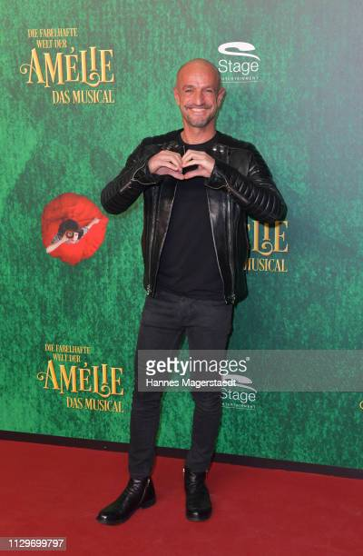 Peyman Amin attends the premiere of the musical 'Die fabelhafte Welt der Amelie' at Werk7 on February 14 2019 in Munich Germany