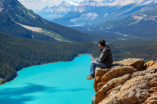 Peyto Lake in Banff National Park on Icefields Parkway 1007519166