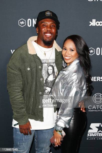 Peyton Barber and Paloma Adams attend VaynerSports x ONE37pm Emerging Kings Party on February 01 2019 in Atlanta Georgia