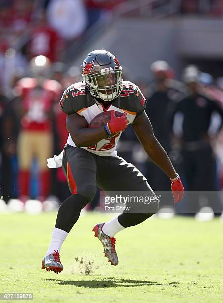 Peyton Barber of the Tampa Bay Buccaneers in action against the San Francisco 49ers at Levi's Stadium on October 23 2016 in Santa Clara California