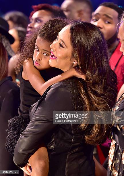 Peyton Edmonds and actress Nicole Edmonds attend the 2015 Soul Train Music Awards at the Orleans Arena on November 6 2015 in Las Vegas Nevada