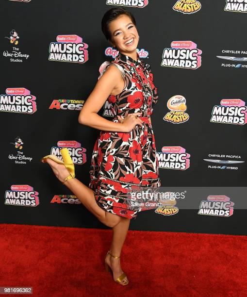 Peyton Elizabeth Lee arrives at the 2018 Radio Disney Music Awards at Loews Hollywood Hotel on June 22 2018 in Hollywood California