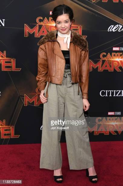 Peyton Elizabeth Lee attends Marvel Studios Captain Marvel Premiere on March 04 2019 in Hollywood California