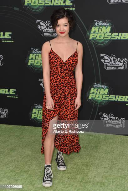 Peyton Elizabeth Lee attends the premiere of Disney Channel's Kim Possible at The Television Academy on February 12 2019 in Los Angeles California