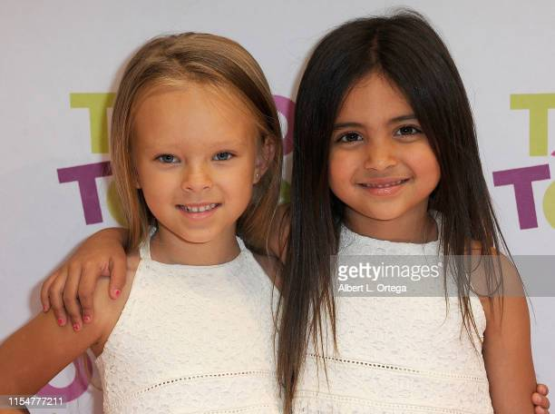 Peyton Johnson and Ava Foley attend #TacoBoutViral Event held at Tacotopia on July 8 2019 in Santa Monica California