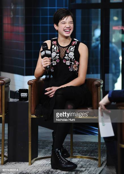Peyton Lee attends Build Series to discuss 'Andi Mack' at Build Studio on February 21 2018 in New York City