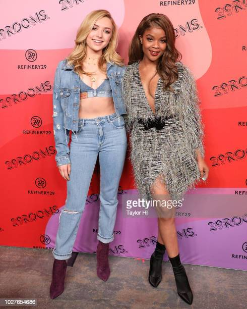 Peyton List and Ajiona Alexus attend Refinery29's 29Rooms Opening Night on September 5 2018 in Brooklyn New York
