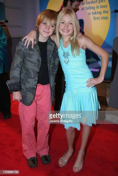 Peyton List and brother Spencer List arrive at opening night of 'The Little Mermaid' on Broadway at the LuntFontanne Theater on January 10 2008 in...