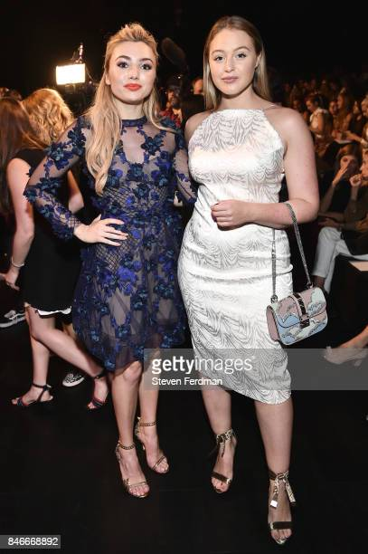 Peyton List and Iskra Lawrence attend the Marchesa fashion show during New York Fashion Week at Gallery 1 Skylight Clarkson Sq on September 13 2017...