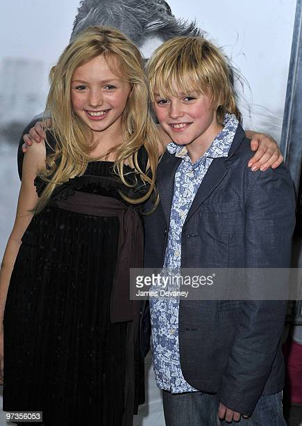 Peyton List and Spencer List attend the premiere of 'Remember Me' at the Paris Theatre on March 1 2010 in New York City