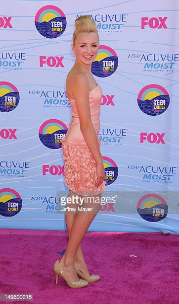 Peyton List arrives at the 2012 Teen Choice Awards at Gibson Amphitheatre on July 22 2012 in Universal City California