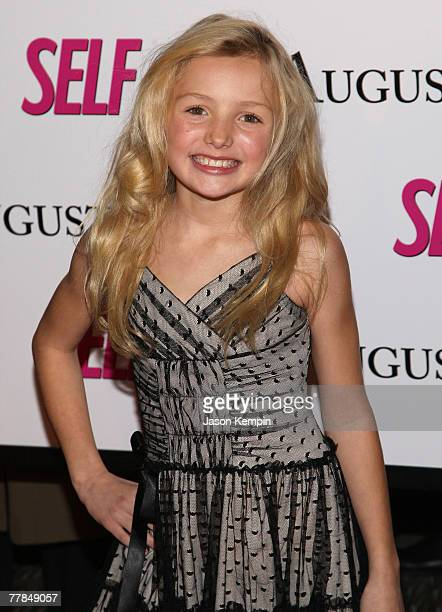 Peyton List arrives at the premiere of 'August Rush' at the Ziegfeld Theater on November 11 2007 in New York City