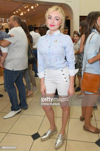Peyton List at the Brooks Brothers Beverly Hills summer camp party benefitting St Jude Children's Research Hospital at Brooks Brothers Rodeo on June...